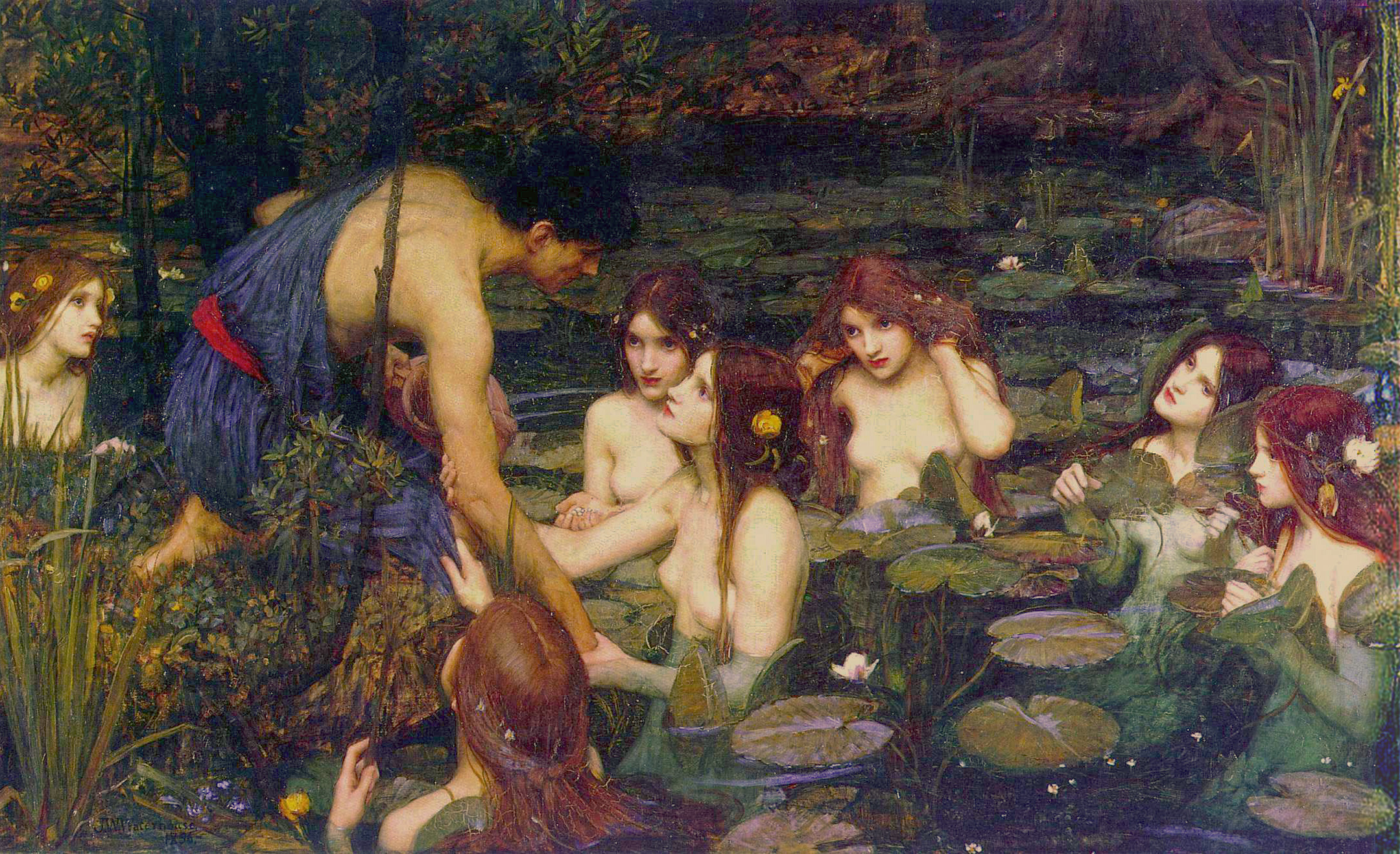 John William Waterhouse. Nymphs