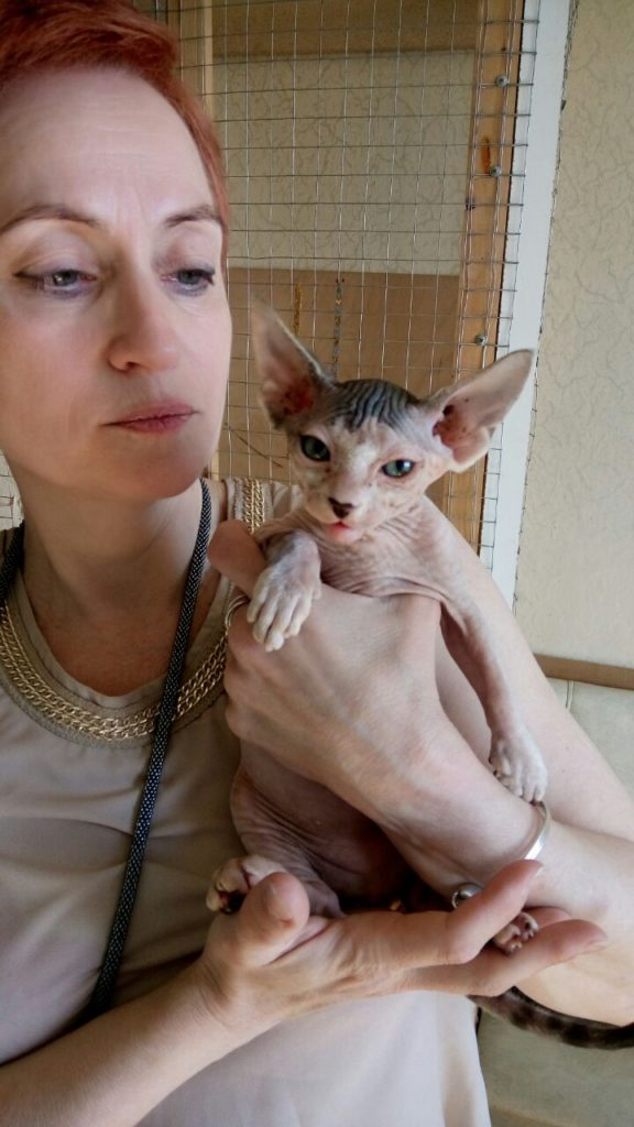 Александра Клюшина с кошкой