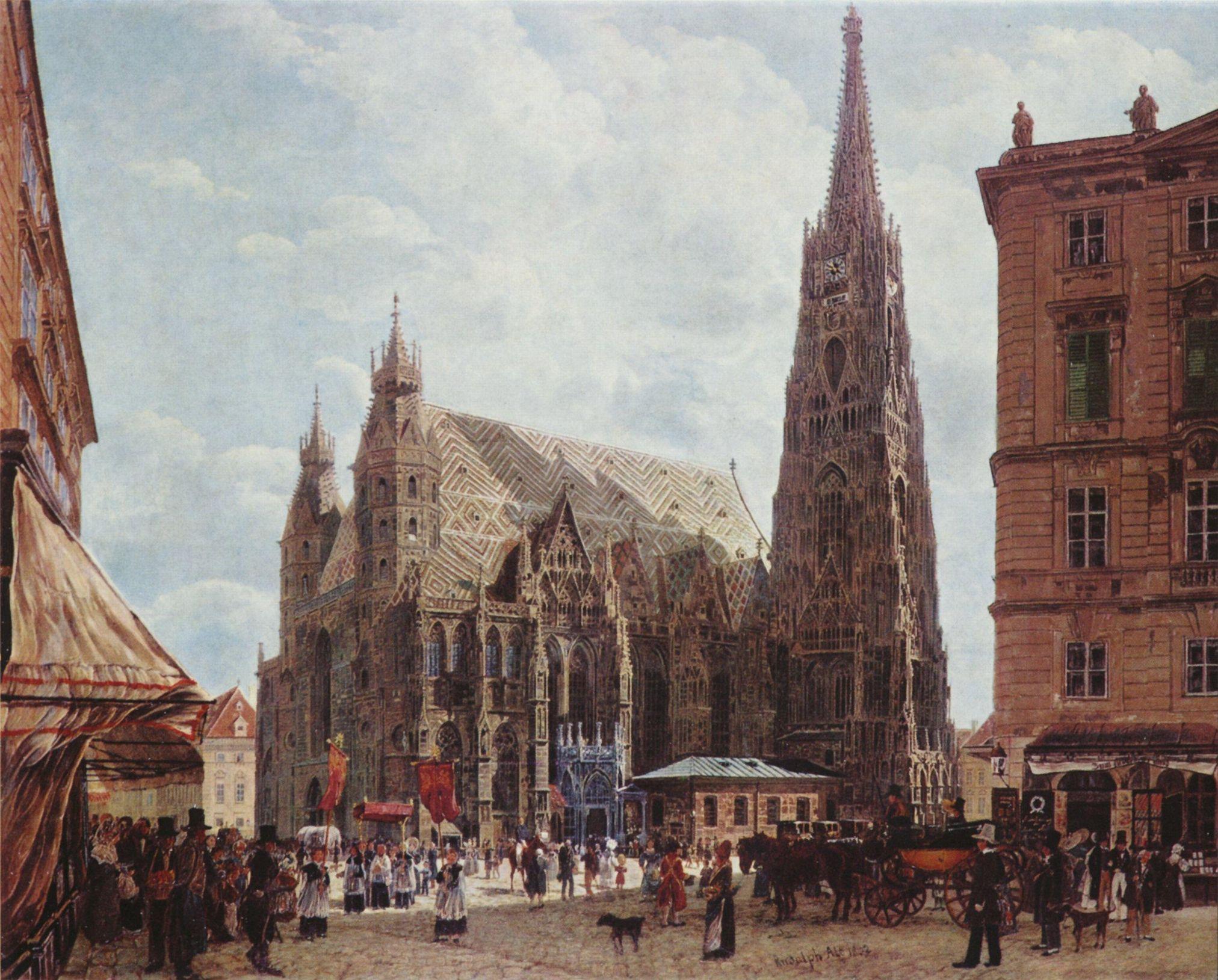 Rudolf Ritter von Alt: Der Stephansdom vom Stock im Eisenplatz
