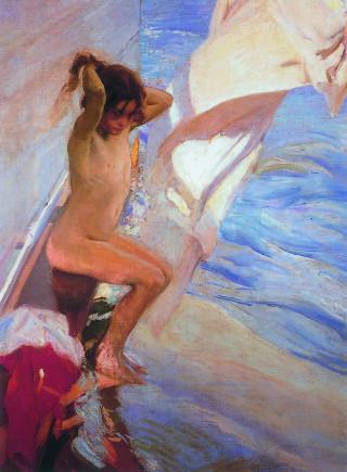 Joaquín Sorolla. Antes del baño, 1909
